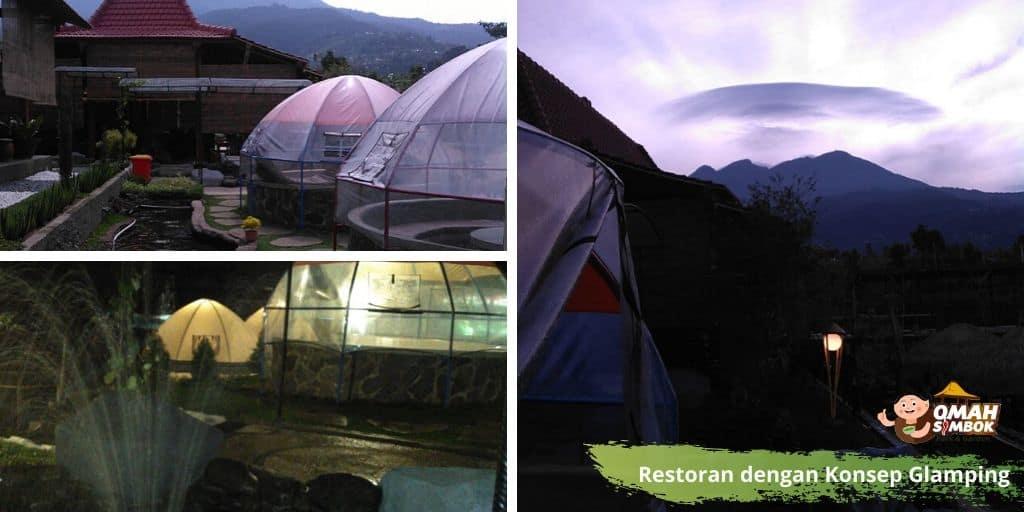 Restoran Karanganyar dengan Konsep Tenda Glamping