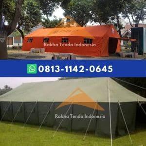 Tenda posko BNPB untuk barak