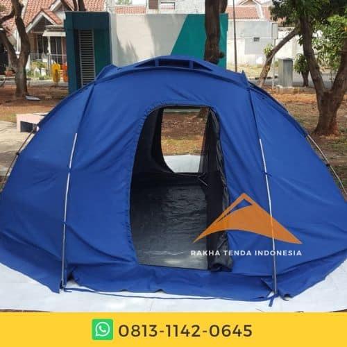 tenda dome tampak belakang